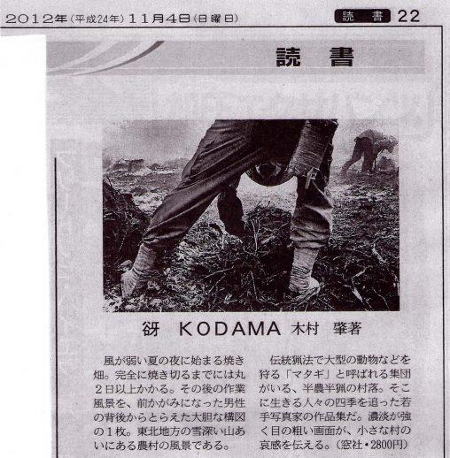 『日本経済新聞』2012年11月4日付「読書」欄